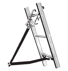 Ladder bracket vintage vector