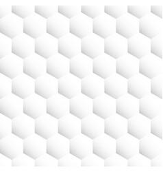light grey seamless hexagonal pattern vector image