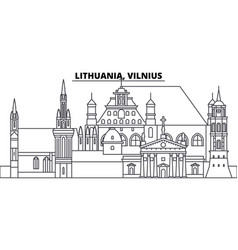 lithuania vilnius line skyline vector image