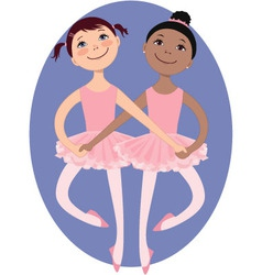 Little ballerinas vector