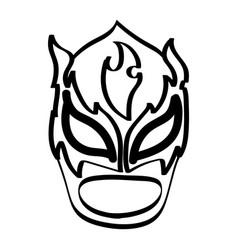 Luchador mask vector