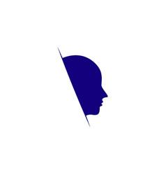 Man face template design vector