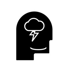 mind process - head man icon vector image