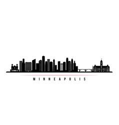Minneapolis skyline horizontal banner vector