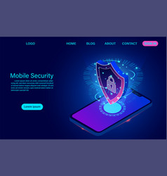 Mobile security concept protects smart phone from vector