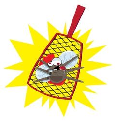 mosquito flyswatter vector image