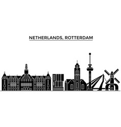 Netherlands rotterdam architecture city vector