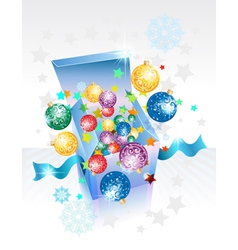 Open explore gift box vector image