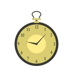 Pocket watch icon in flat style vector