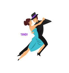 professional dancer couple dancing tango pair of vector image