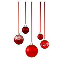 red balls set vector image