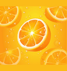 Refreshing orange background realistic vector