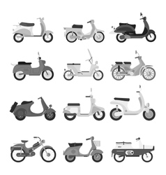 Retro scooter silhouette vector