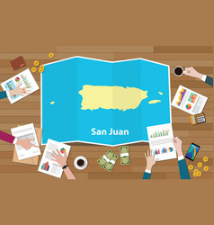 San juan economy country growth nation team vector