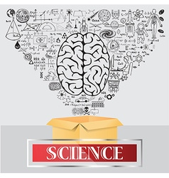 Science think outside the box vector