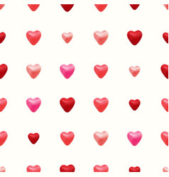 seamless pattern made 3d hearts vector image