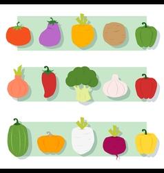 Set of vegetable Healthy food vector image