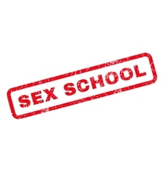 Sex School Rubber Stamp vector