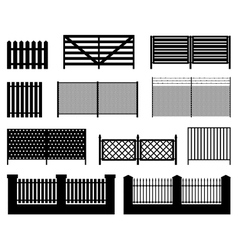 silhouettes fences vector image