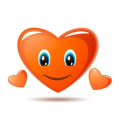 smiling heart vector image