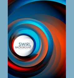 Spiral swirl flowing lines 3d effect abstract vector