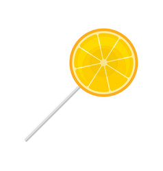 sweet lollipop round citrus sugar candy on vector image