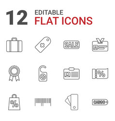 Tag icons vector