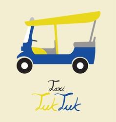 taxi tuk tuk vector image