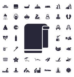 Towel icon vector