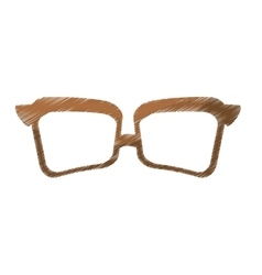vintage glasses frame icon image vector image