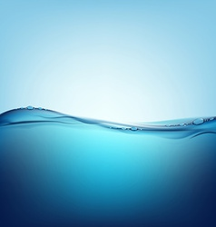 Water with air bubbles vector