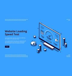 Website loading speed test banner vector