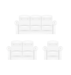 White sofa furniture vector