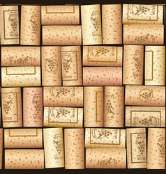 wine bottle cork seamless vector image