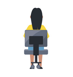 woman sitting on a chair vector image