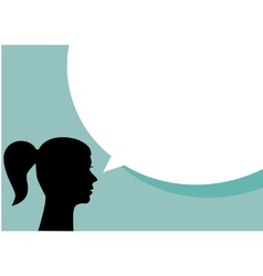 Woman with blank speech bubble vector image