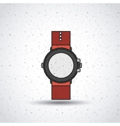 wristwatch isolated icon design vector image