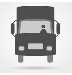 big truck car web icon vector image vector image