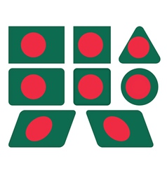 buttons with flag of Bangladesh vector image vector image