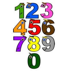Happy numbers vector image vector image