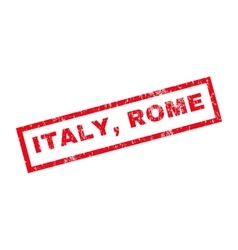 Italy Rome Rubber Stamp vector image vector image