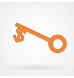 money key symbol icon vector image vector image