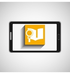 Smartphone technology book searching vector