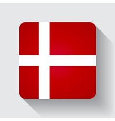 Web button with flag of Denmark vector image