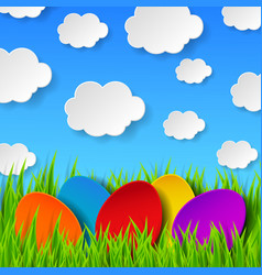 Abstract Easter eggs vector image vector image
