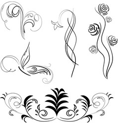 black patterns isolated vector image
