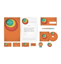 Corporate Identity Templates in vector image vector image