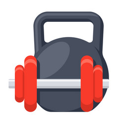 dumbbell and kettlebell vector image vector image