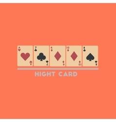 flat icon on stylish background high card vector image