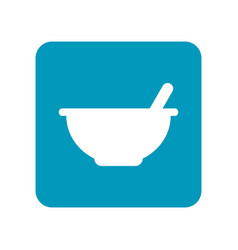 mortar with pestle flat icon of laboratory vector image vector image